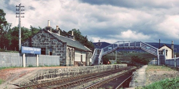 The closed Grantown on Spey East station in June 1968                         G N Turnbull/GNSRA